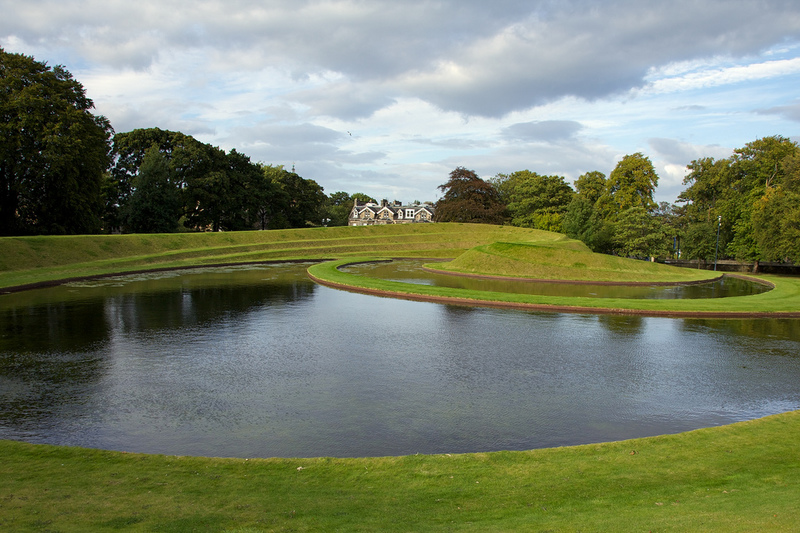 Charles Jenck's Landform just outside the Scottish National Gallery of Modern Art.